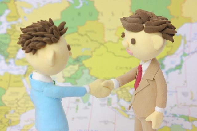 世界中の人と握手