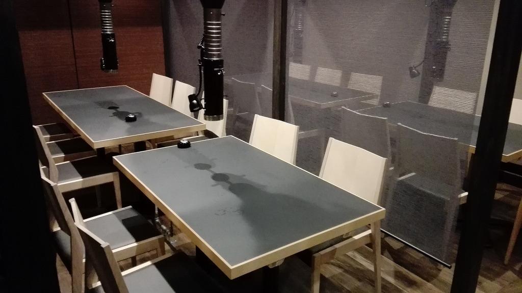 2階席のテーブル2