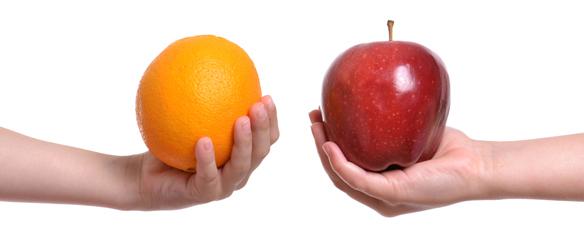 りんごを比較